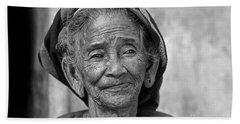 Old Vietnamese Woman Beach Sheet