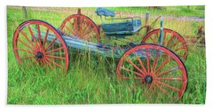 Old Wagon Beach Towel by Marion Johnson