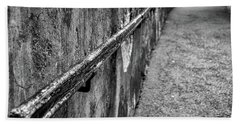Beach Towel featuring the photograph Old Wall And Handrail by Stuart Litoff