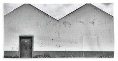 Old Warehouse Exterior Beach Towel