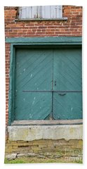 Old Warehouse Loading Door Beach Sheet