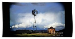 Old Windmill And Tank 2017 Beach Sheet