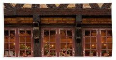 Beach Towel featuring the photograph Old Windows - 365-275 by Inge Riis McDonald