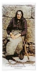 Old Woman Of Spain Beach Towel by Kenneth De Tore