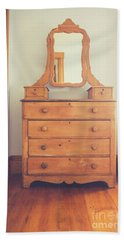 Old Wooden Dresser Beach Sheet by Edward Fielding