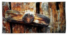 Old Wooden Latch Beach Towel
