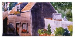 Old Wooden School House Beach Towel by Larry Hamilton
