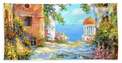 Beach Towel featuring the painting Old Yard  by Dmitry Spiros