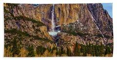 Old Yosemite Falls Beach Towel