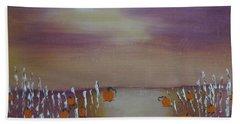 Olde Tyme Pumpkin Patch And Maze Beach Towel by Sharyn Winters