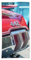 Olds 442 Classic Car Beach Towel by Mike Reid