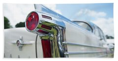 Oldsmobile Tail Beach Towel by Helen Northcott