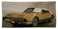 Oldsmobile Toronado 1965 Painting Beach Towel