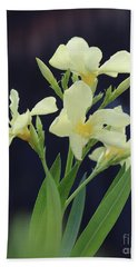 Beach Towel featuring the photograph Oleander Marie Gambetta 2 by Wilhelm Hufnagl