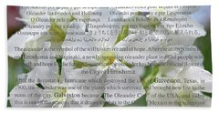 Oleanders For Peace And Hope Beach Towel