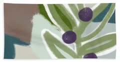 Olive Branch 2- Art By Linda Woods Beach Towel