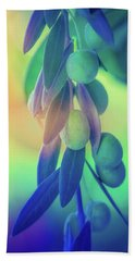 Olive Branch In Color Beach Towel