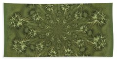 Olive Branch Mandala Beach Towel