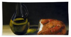 Olive Oil And Bread Beach Sheet