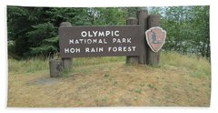 Olympic Park Sign Beach Towel