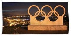 Olympic Rings Portland  Beach Towel