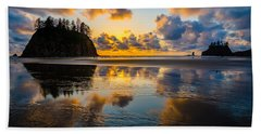 Olympic Sunset Glow Beach Towel