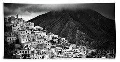 Olympos. Karpathos Island Greece Beach Towel by Silvia Ganora