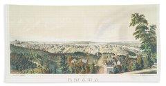 Omaha, Nebraska Looking North From Forest Hill 1867 Beach Towel