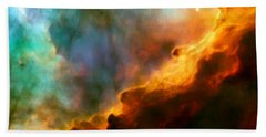 Omega Swan Nebula 3 Beach Towel by Jennifer Rondinelli Reilly - Fine Art Photography