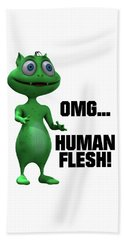 Omg... Human Flesh Beach Towel
