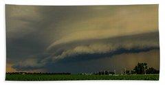Ominous Nebraska Outflow 007 Beach Towel