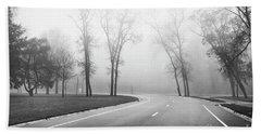 On A Foggy Morning Beach Sheet by Ricky L Jones