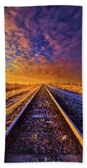 Beach Towel featuring the photograph On A Train Bound For Nowhere by Phil Koch