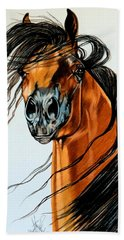 On A Windy Day-dream Horse Series #2003 Beach Towel by Cheryl Poland