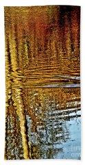 On Golden Pond Beach Sheet by Carol F Austin