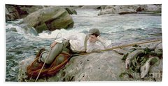 On His Holidays Beach Towel by John Singer Sargent