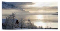 Beach Sheet featuring the photograph On My Way Through Lofoten 4 by Dubi Roman