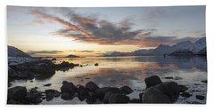On My Way Through Lofoten 5 Beach Sheet by Dubi Roman