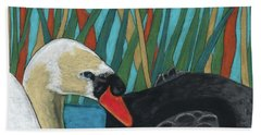 On Peaceful Pond Beach Towel