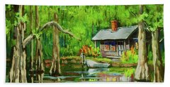 On The Bayou Beach Towel