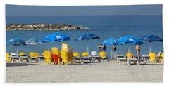 On The Beach-tel Aviv Beach Towel