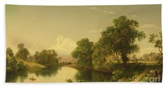 On The Esopus Creek, Ulster County, Ny Beach Towel