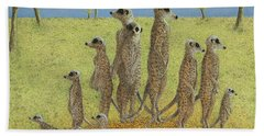 On The Lookout Beach Towel by Pat Scott