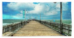 On The Pier At Tybee Beach Towel