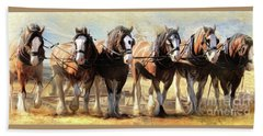 On The Plough Beach Towel by Trudi Simmonds