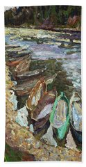 On The River Chusovaya Beach Towel