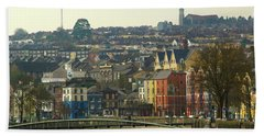 Beach Towel featuring the photograph On The River Lee, Cork Ireland by Marie Leslie