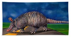 On The Road Again Beach Towel by Jean Cormier