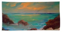 On The Rocks Beach Towel by Holly Martinson