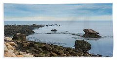 Beach Towel featuring the photograph On The Rocks by Robin-Lee Vieira